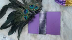 Purple Mardi Gras Invitation